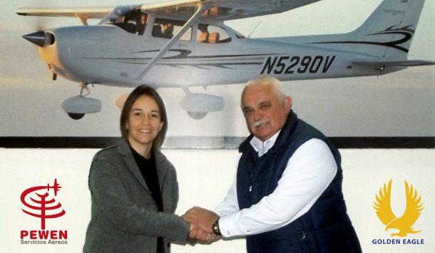 Firma Convenio Golden Eagle y Pewen Servicios Aéreos