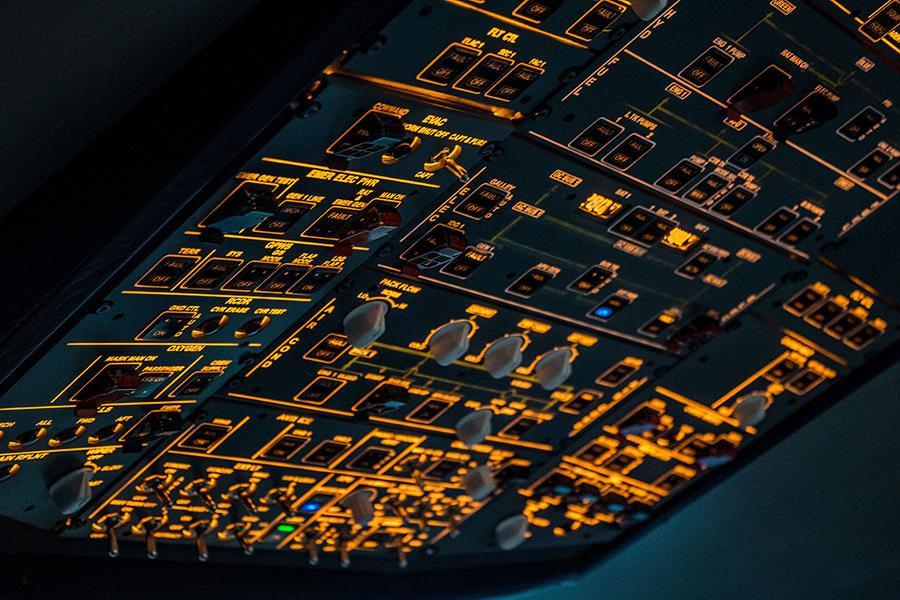Simulador A32X - Panel superior