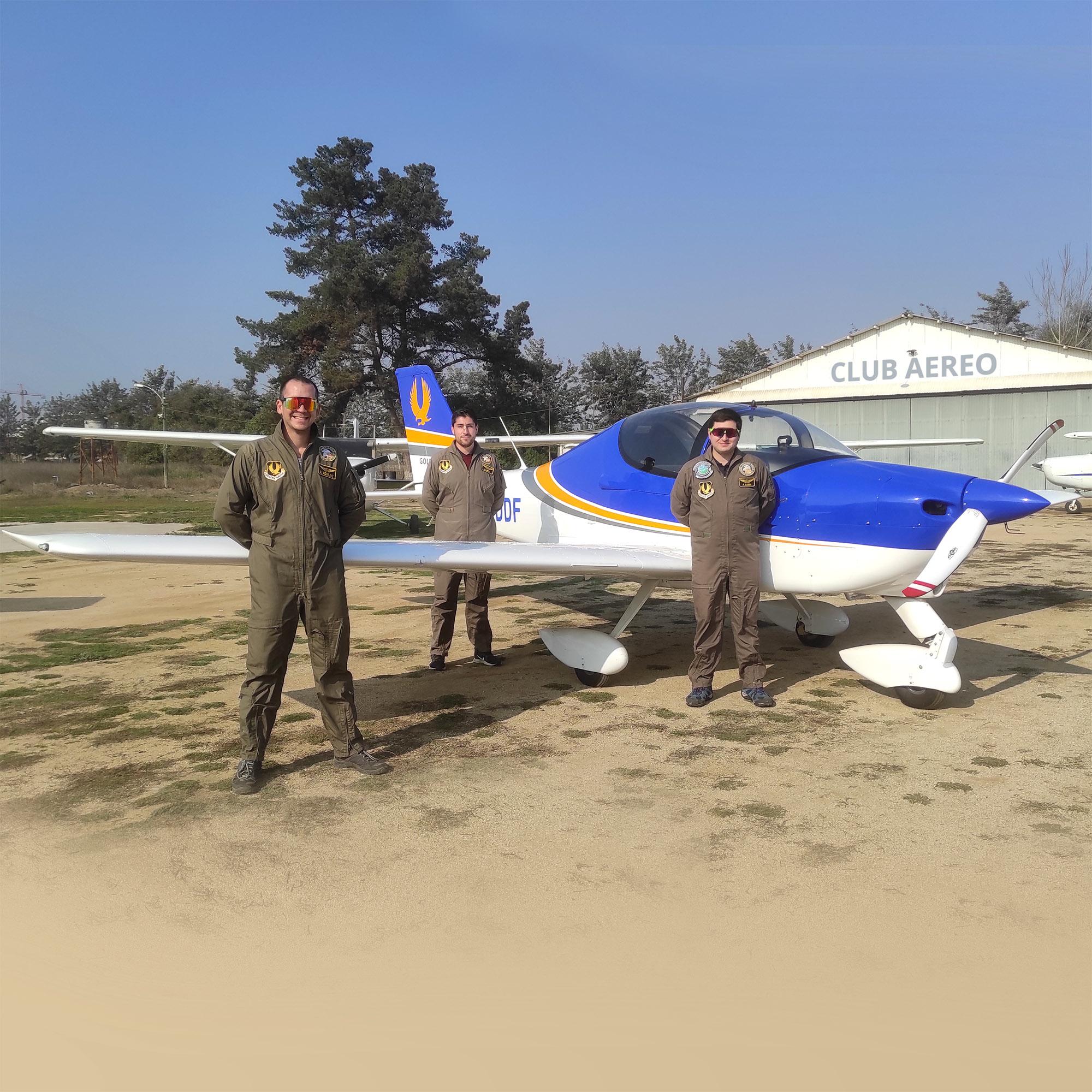 Avión Tecnam e Intsructores
